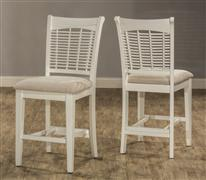 Bayberry Non-Swivel Counter Stool - White - Set of 2