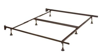 Queen/King/Cal King 6 Leg Headboard Frame - Brown