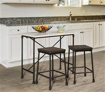 Castille 3 Piece Counter Height Bar Set