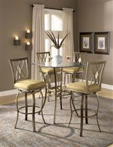 Brookside 5pc Bistro Set w/ Diamond Barstools