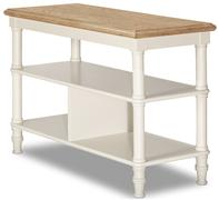 Seneca Stand - Sea White with Driftwood Top (No Baskets Included)
