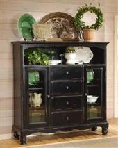 Wilshire Bakers Cabinet Rubbed Black