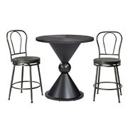 Melange 3-Piece Counter Height Bistro Set with Metal Back Swivel Stools