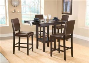 Arcadia 5pc Counter Height Set w/ Parsons Stools
