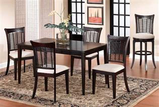 Bayberry 5pc Rectangle Dining Set - Dark Cherry