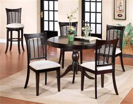 Bayberry 5pc Round Dining Set Dark Cherry