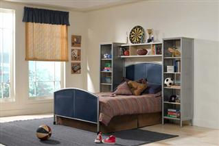 Brayden 5pc Twin Wall Storage Bedroom Suite
