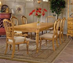 Wilshire 5pc Rectangle Dining Set Antique Pine