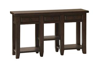 Tuscan Retreat™ 3 Drawer Hall Table - Rustic Mahogany