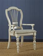 Pine Island Wheat Arm Chair - Old White
