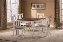 Bayberry / Embassy 5 Piece Rectangle Dining Set   White