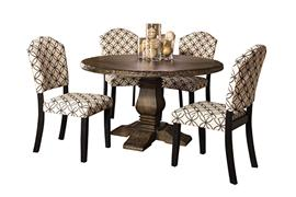 Lorient 5pc Round Dining Set w/ Parsons Chairs