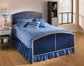 Brayden Mesh Full Bed Silver and Navy