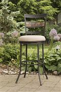 Henning Indoor/Outdoor Swivel Counter Height Stool
