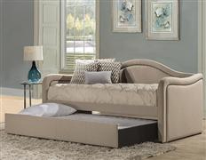 Melbourne Daybed - Optional Trundle - Linen Oyster