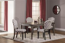Lorient 5pc Rectangle Dining Set w/ Parsons Chairs