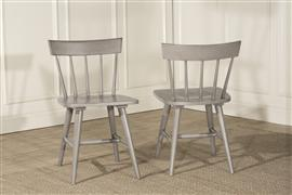 Mayson Dining Chair with Spindle Back - Set of 2 - Gray