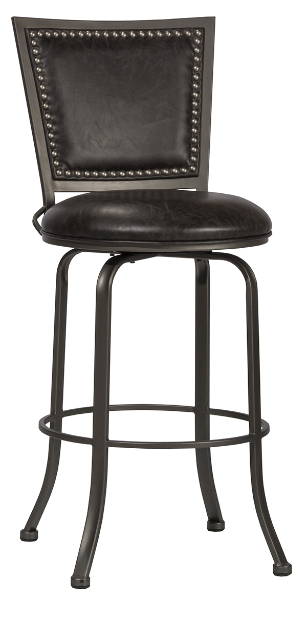 Belle Grove Commercial Grade Swivel Bar Stool Charcoal