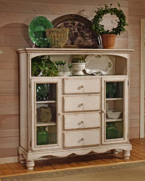 Wilshire Bakers Cabinet Antique White