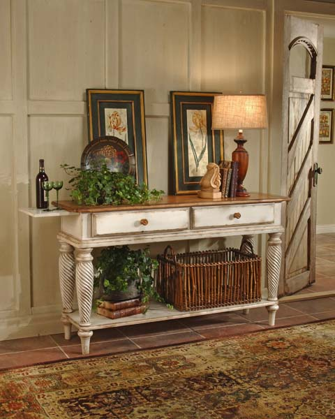 Old Country Dining Room Tables: Wilshire Sideboard Antique White