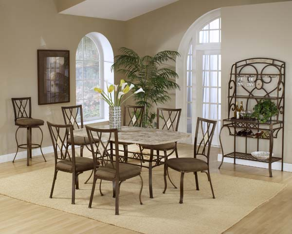 Superieur Brookside 7pc Rectangle Set W/ Diamond Chairs