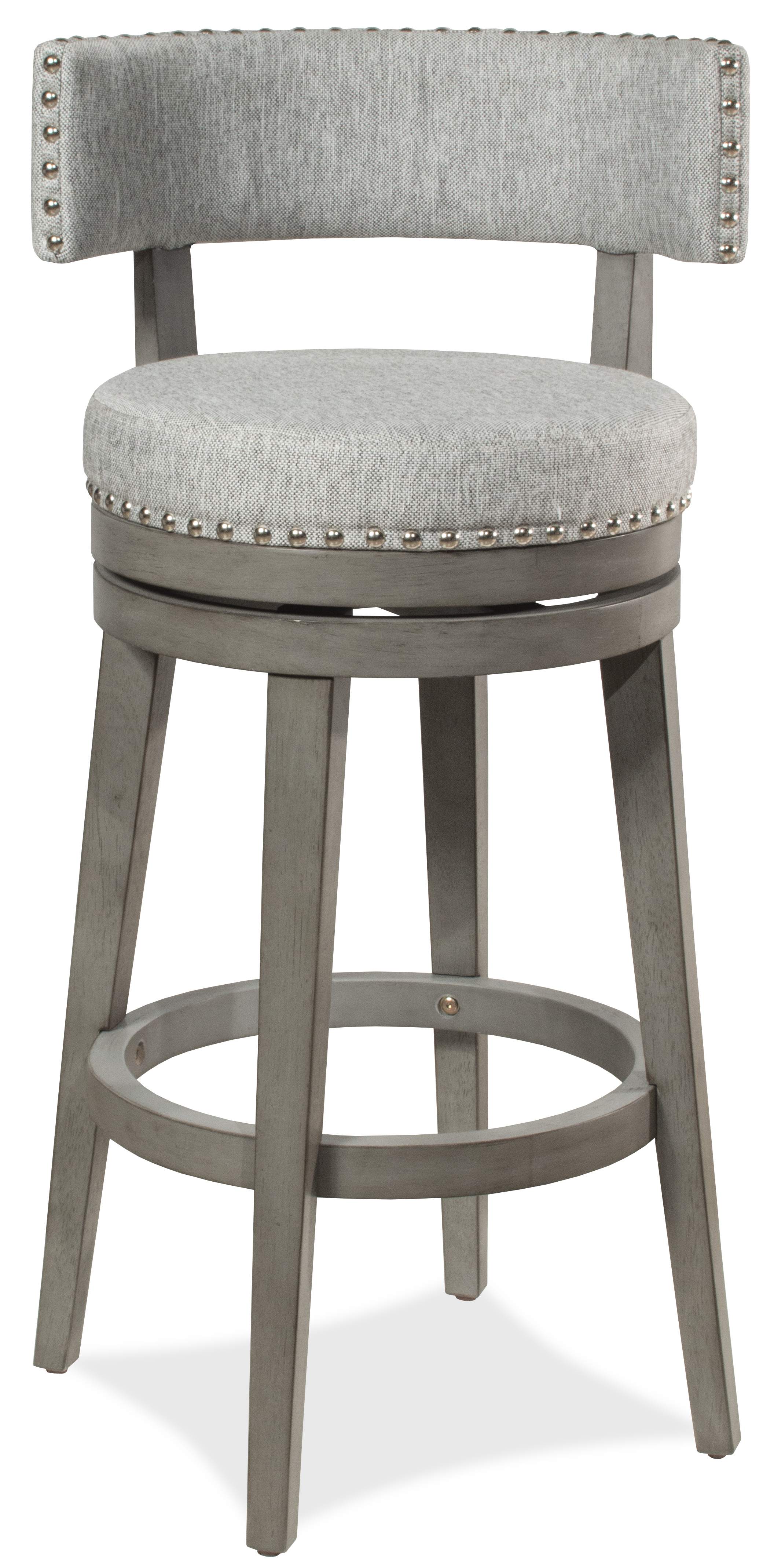 Lawton Swivel Counter Height Stool Antique Gray
