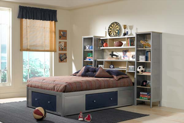 Universal 5pc Twin Storage Platform Bedroom Suite