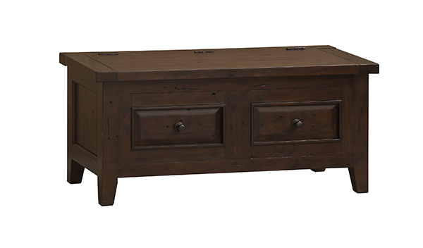 Tuscan Retreat® Blanket Box   Rustic Mahogany