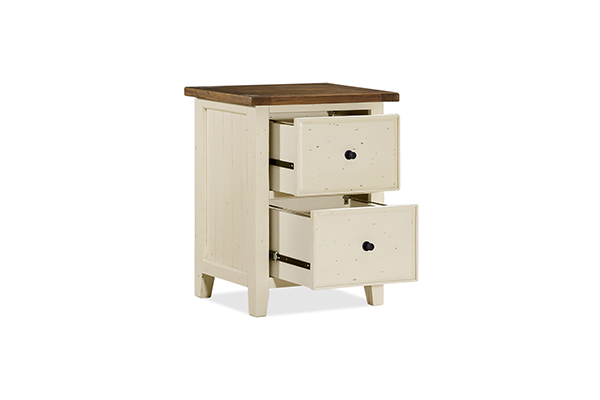 tuscan retreat small file cabinet country white with antique pine top - Small File Cabinet