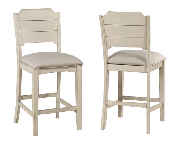clarion non swivel open back counter height stool set of 2 sea white