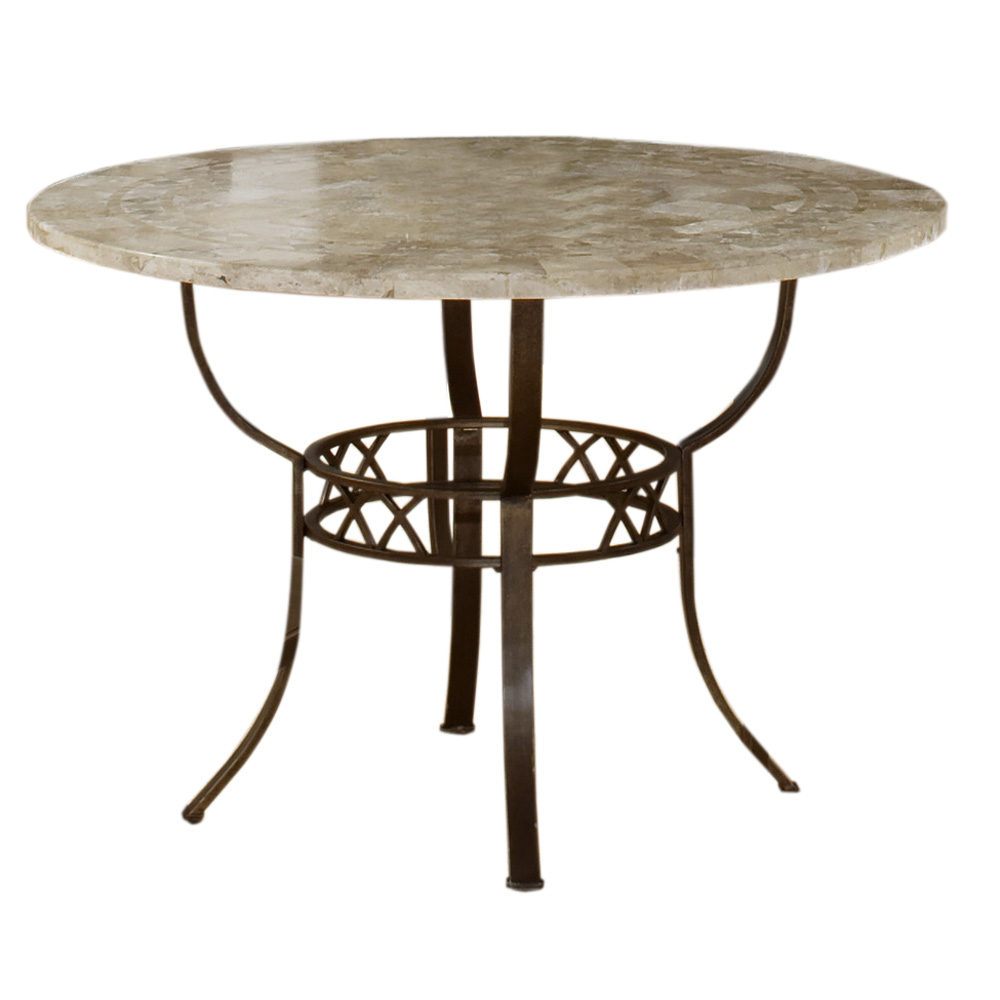 Granite Round Dining Table: Brookside Round Dining Table