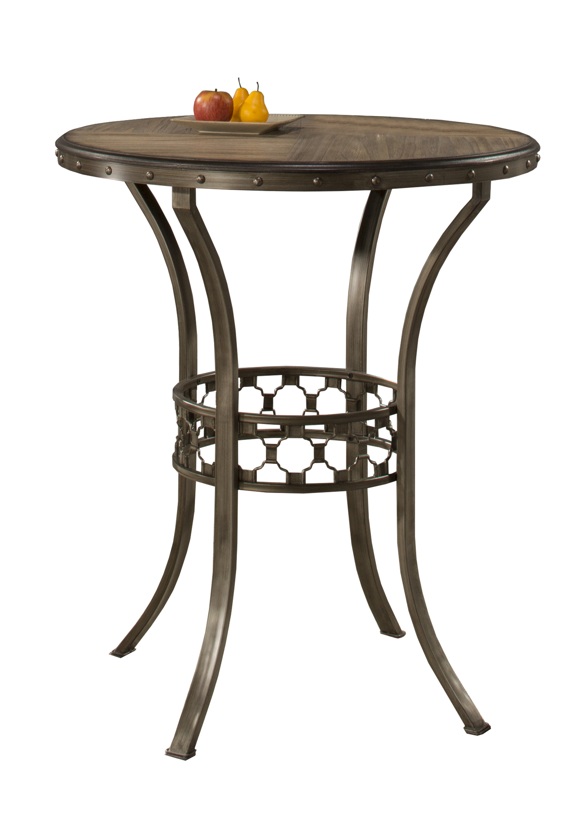 Lannis Bar Height Bistro Table Ctn A Wood Top